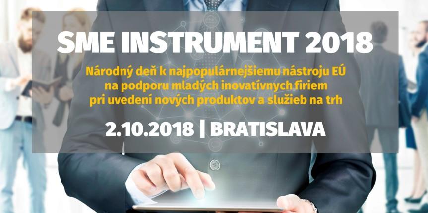 SME Instrument 2018: Národný deň (Bratislava,2.10.2018)