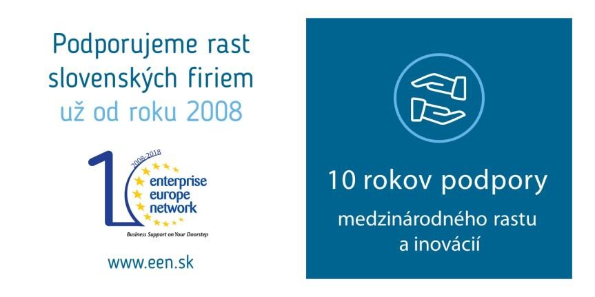 Enterprise Europe Network poskytuje služby na podporu podnikania a inovácií už vyše 10 rokov. Využite ich bezplatne ajvy!