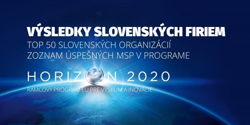 Ako sú na tom slovenské firmy v programe Horizont 2020? Zo slovenských organizácii obstáli najlepšie. Pozrite si, ktoré súto…