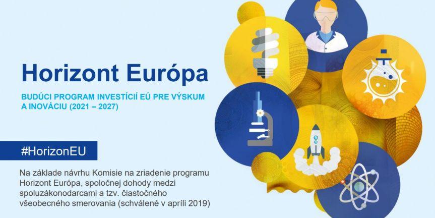 Nová stránka pre európsky program na podporu výskumu a inovácií Horizon Europe2021-2027