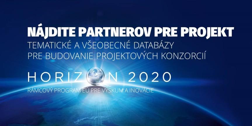 Aktualizovaný zoznam webstránok pre hľadanie partnerov pre Horizont2020