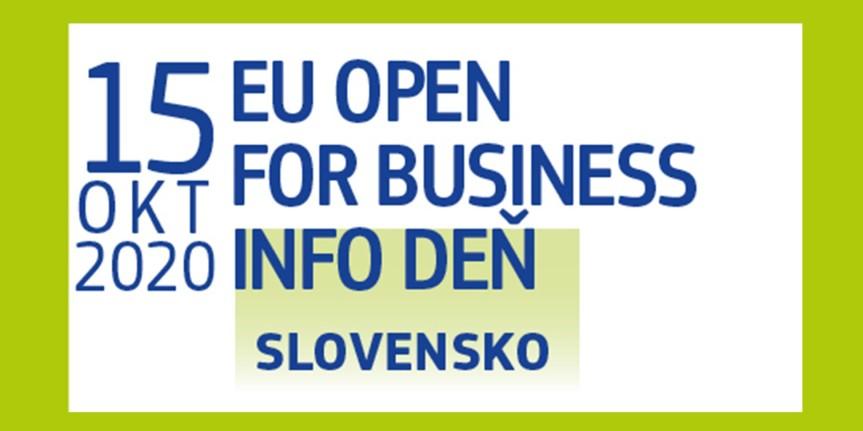 EU Open for Business: Informačný deň o podpore podnikania zo strany EÚ pre Slovensko(15.10.2020)