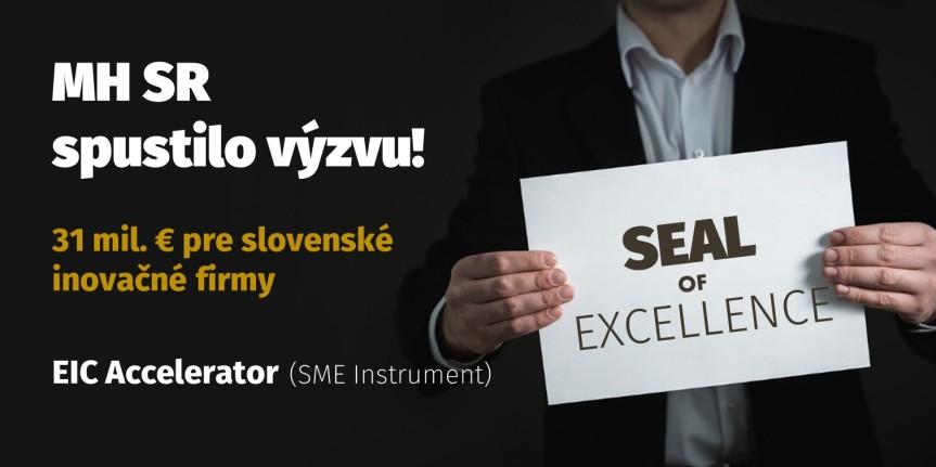 MH SR spustilo výzvu pre držiteľov Seal of Excellence. Firmy majú k dispozícii vyše 31 mil.eur
