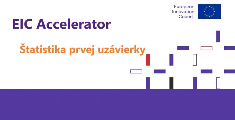 Prvý slovenský úspech v novej sérii EIC Accelerator. Pozrite si štatistiky prvej uzávierky úplnýchnávrhov